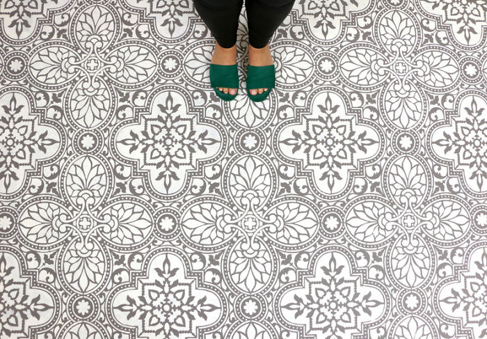 Use A Tile Stencil To Upgrade Your Boring Floor
