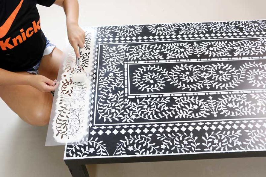 Take Your Ikea Coffee Table From Bland To Grand With An Inlay Stencil Kit