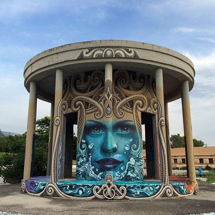 Artist Creates Large Scale Street Art Murals Across Europe, Makes Boring Buildings Interesting