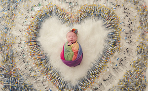 Photo Of A Newborn Surrounded By 1,616 Syringes Captures What This Couple Went Through To Have A Baby