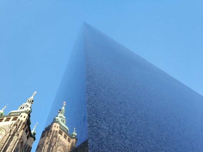This Granite Obelisk At Prague Castle Blends With The Sky