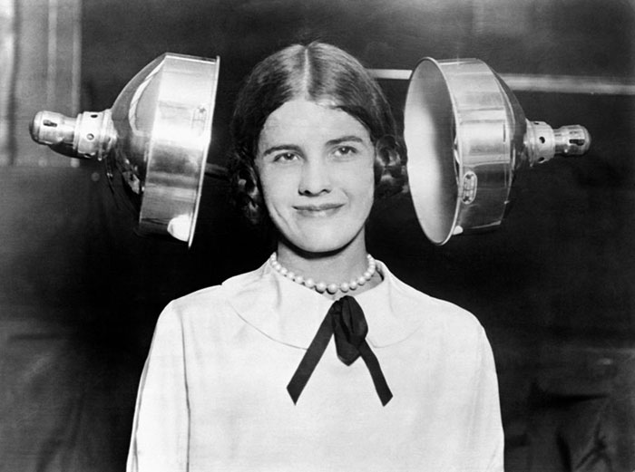 Dual Lamp Hair Dryer, Early 1930s