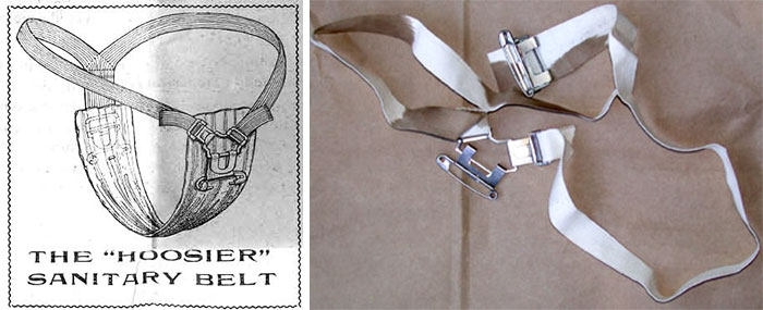 19th Century Menstrual Pad Belt