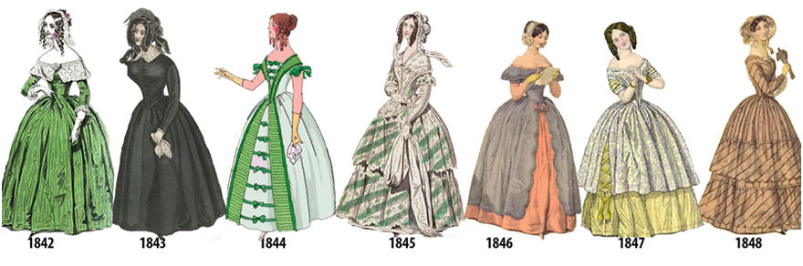 Here's How Small Changes In Women's Fashion From 1784 To 1970 Ended Up Creating A Big Difference