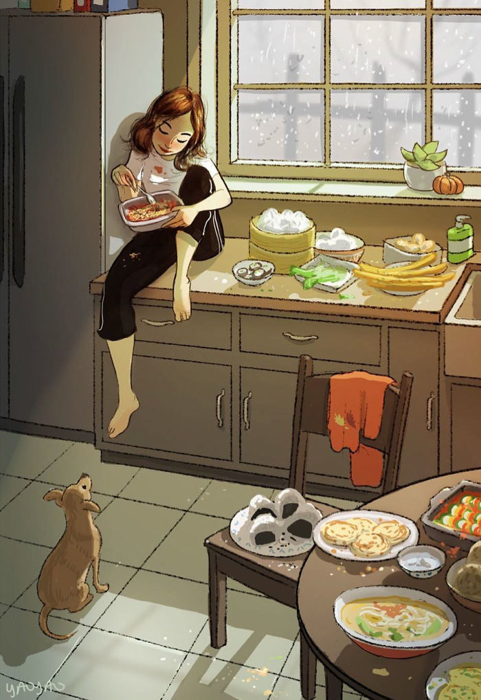Living-With-Dog-Illustrations-Yaoyaomva