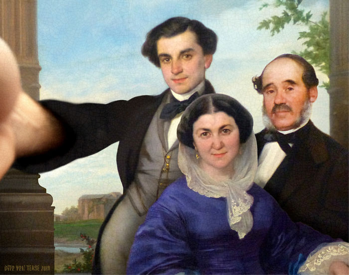 Frédéric Fabrège And His Parents In Front Of Maguelone Cathedral – Auguste-Barthélemy Glaize, 1830