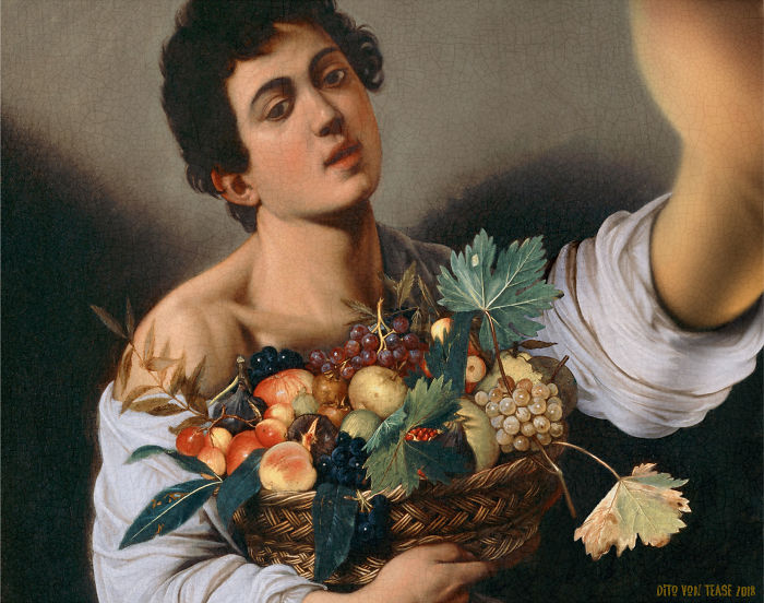 Boy With A Basket Of Fruit – Caravaggio, 1593