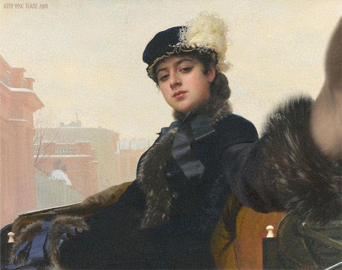 Portrait Of An Unknown Woman – Ivan Kramskoy, 1883