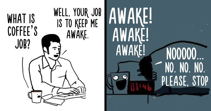 I Drew 10 Comics That Show What Would Happen If Your Coffee Could Talk