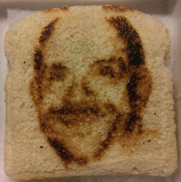 My Dad Got A Toaster That Toasts His Face On Bread