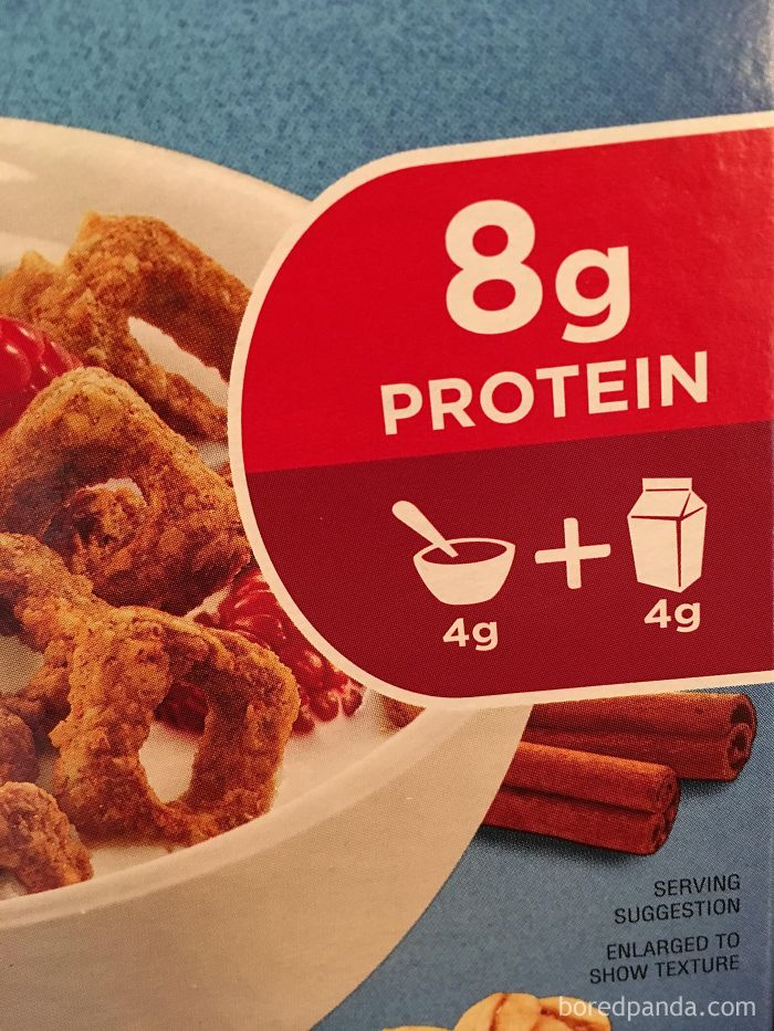 Why Do Cereal Companies Always Pull This Shit? Your Cereal Has 4 Grams Of Protein, Not 8 Grams