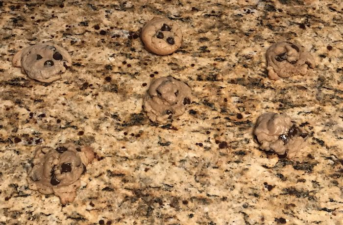 When I Bake Chocolate Chip Cookies, They Camo To My Counter Top