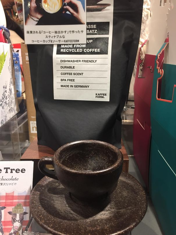This Coffee Cup Is Made From Recycled Coffee Grounds