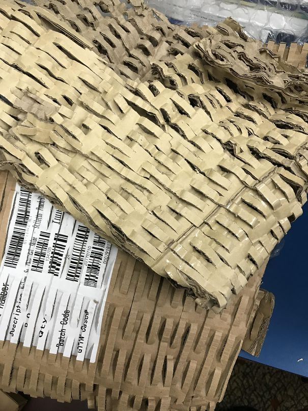 Recycled Cardboard Used As An Alternative To Bubble Wrap