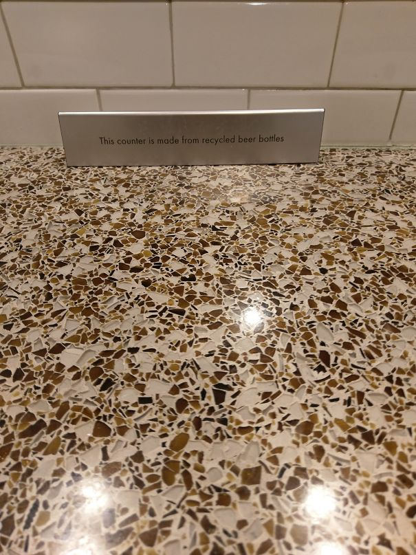 This Sink Counter At A Brewery Is Made With Recycled Beer Bottles