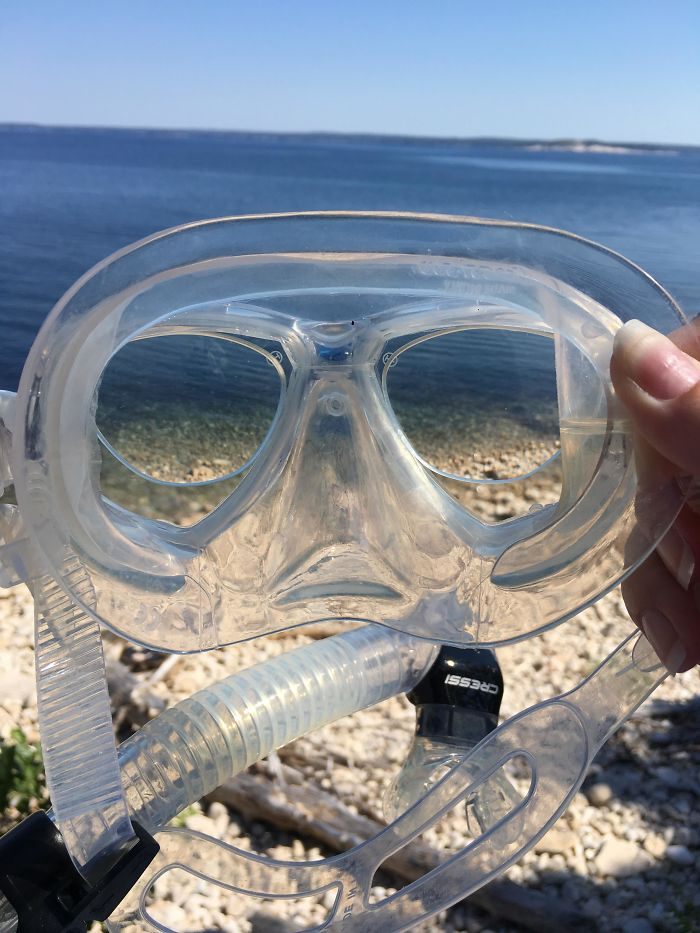Had A Pair Of Prescription Lenses Which Fit Perfectly In My Mask. I Could See All The Fishes Clearly