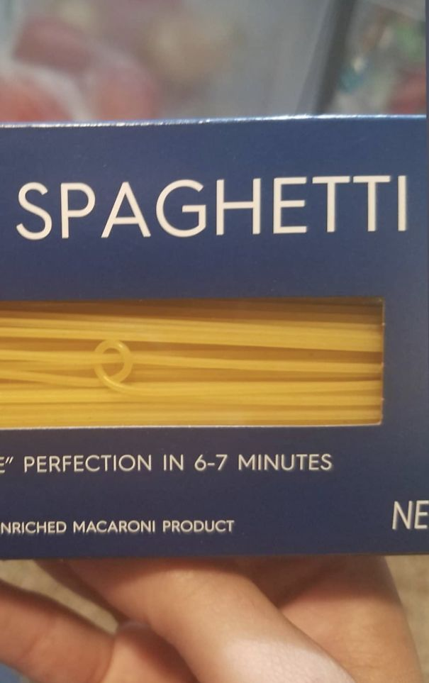 This Spaghetti In The Box Wrapped Around Another Spaghetti