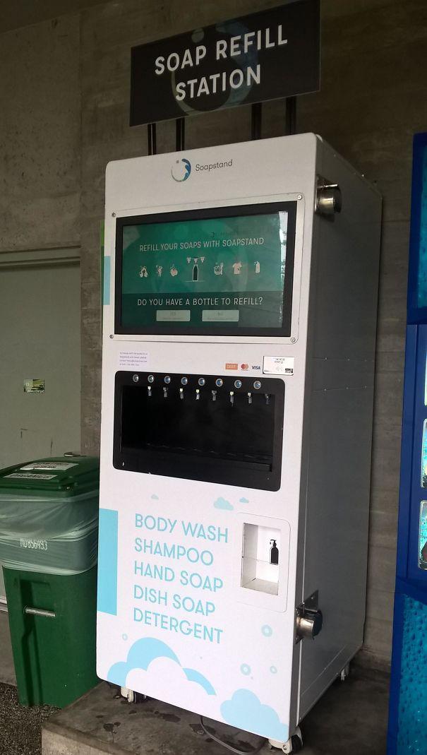 Refill Station At Simon Fraser University, Canada