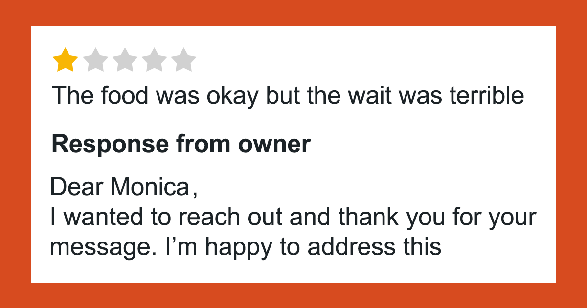 Customer Leaves A One-Star Review For Restaurant, Unluckily For Her, The Owner Remembers Her Too Well