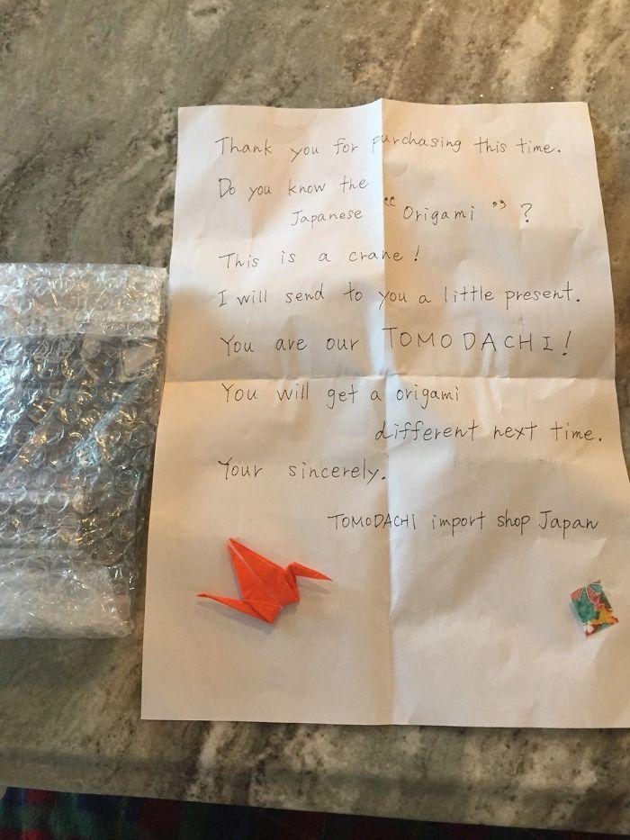 Esta Carta Escrita A Mano Que Recibí De Un Pedido Por Correo De Amazon