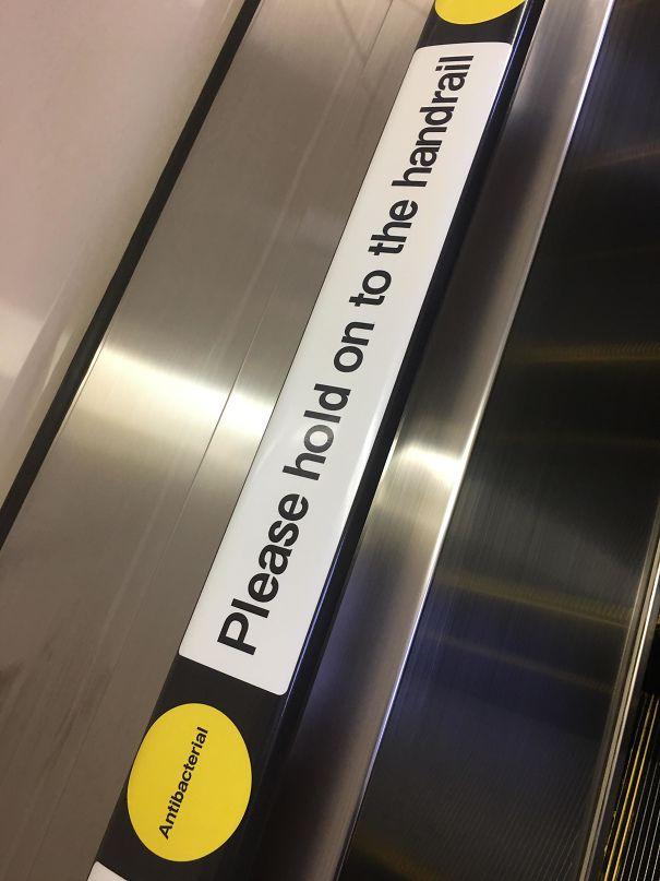 Anti-Bacterial Handrails In Tokyo Metro Escalator
