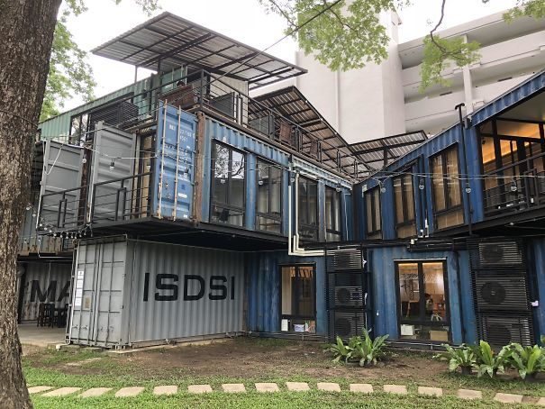 This Office Is Made Up Of Old Shipping Containers