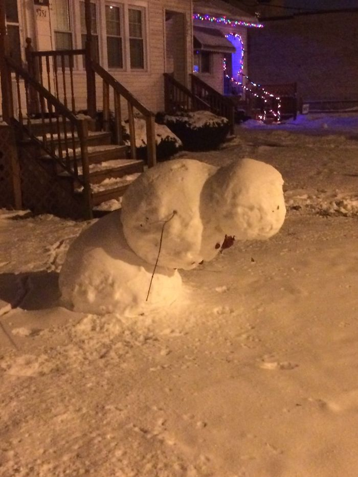 This Snow Man Denies All Laws Of Physics