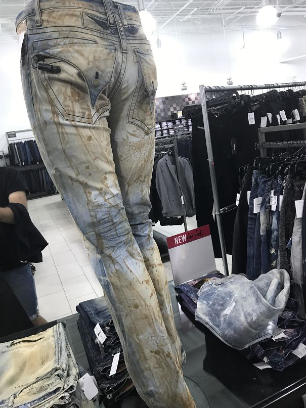 "These ""Designer Jeans"" Look Like They're Covered In Sh*t Stains"