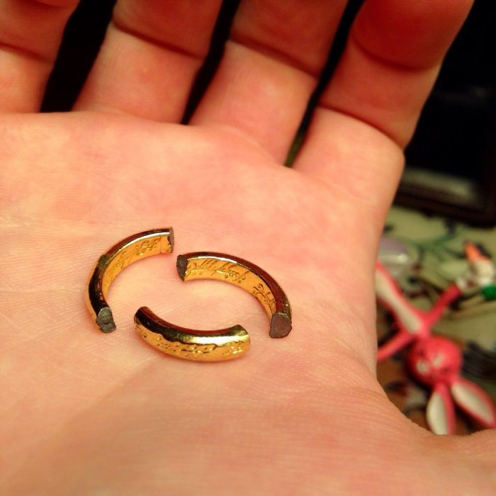 When I Was 13 I Got The One Ring Stuck On My Finger And Had To Visit The ER On A School Night. The Doc Called Out