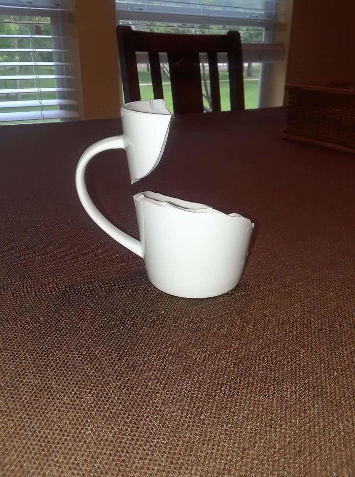 La forma en que se ha roto mi taza