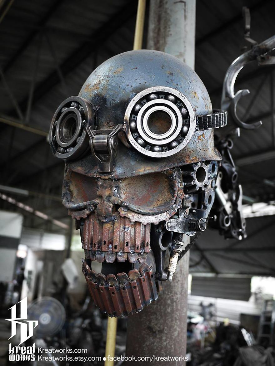Artist Uses Recycled Metal To Make His Sculptures And The Result Is Incredible