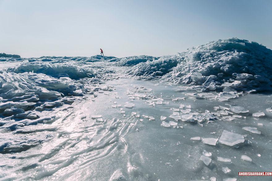 Zvejniekciems Beach , Winter
