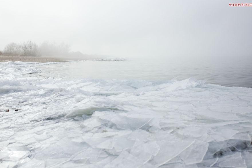 Vakarbulli Beach In Winter