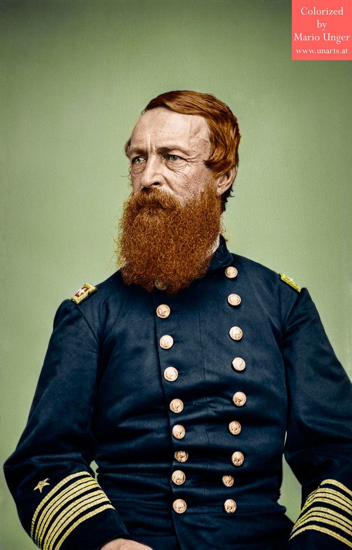 US Civil War Admiral David Dixon Porter CA 1860