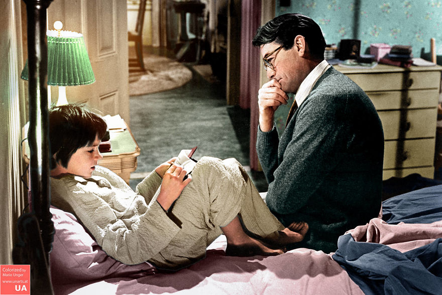 Mary Badham And Gregory Peck In 'To Kill A Mockingbird' (1962)