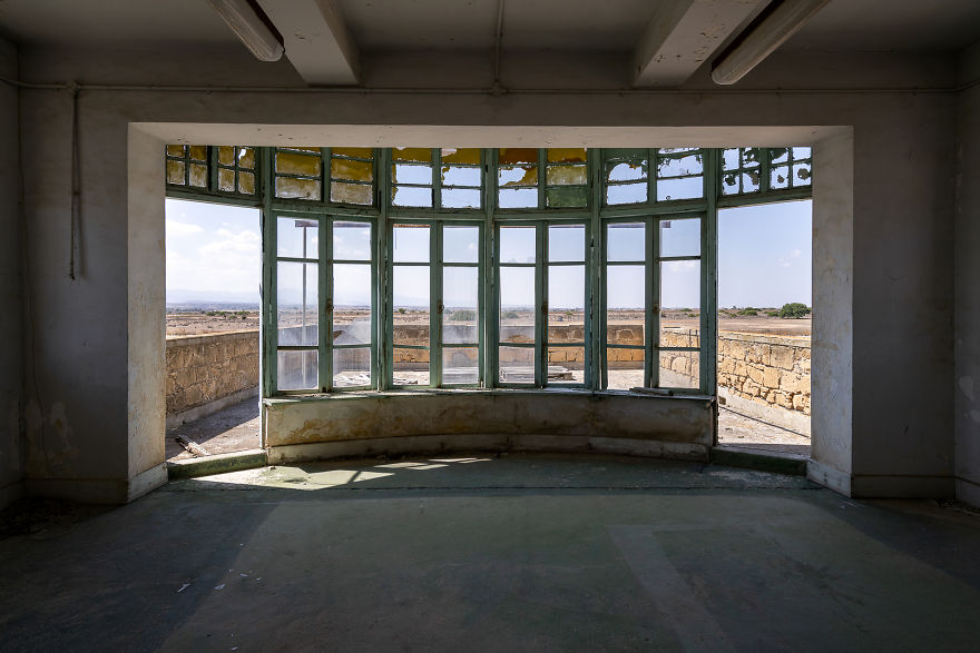 View From Inside The Air Traffic Control Tower