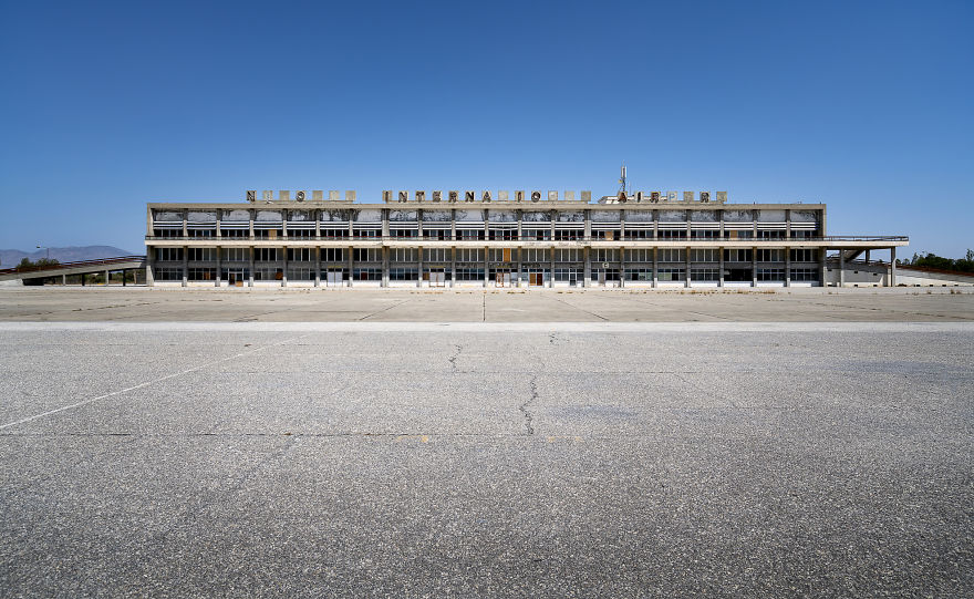 Frontal View Of The Airport