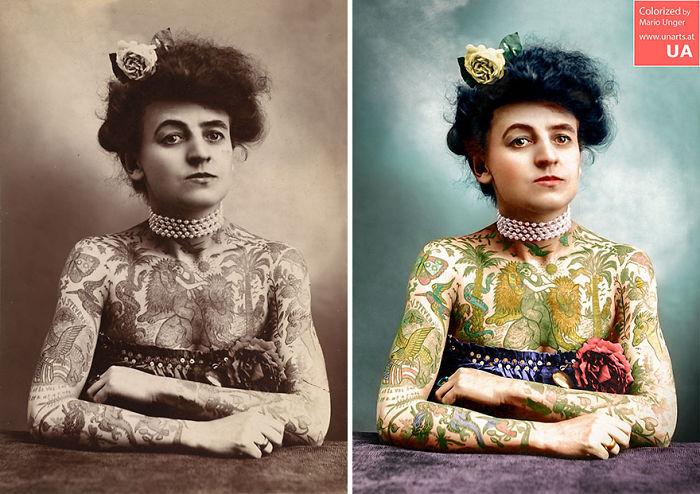 Tattooed Woman CA 1905