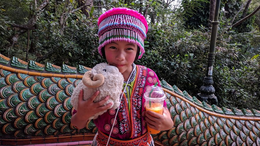 With A New Friend In Thailand