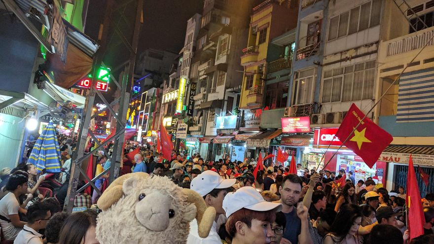Partying In The Streets Of Ho-Chi-Minh-City, Vietnam