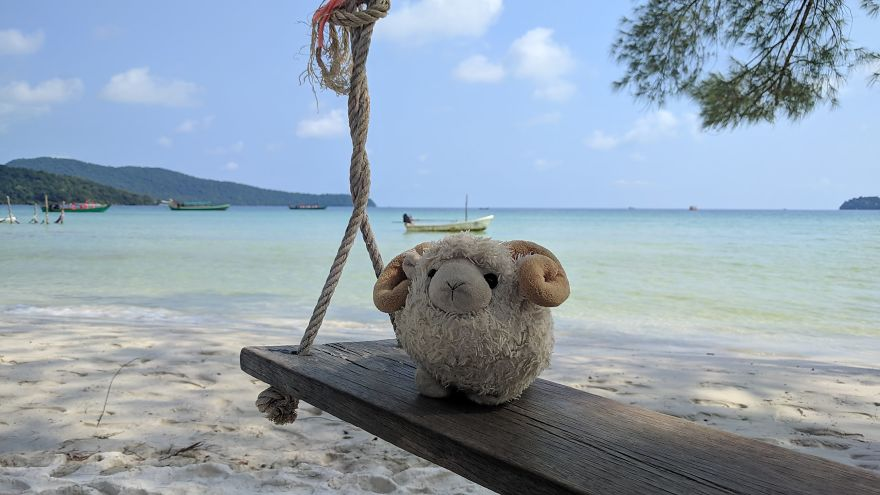 Chilling Out On The Beach In Koh Rong Samloem, Cambodia