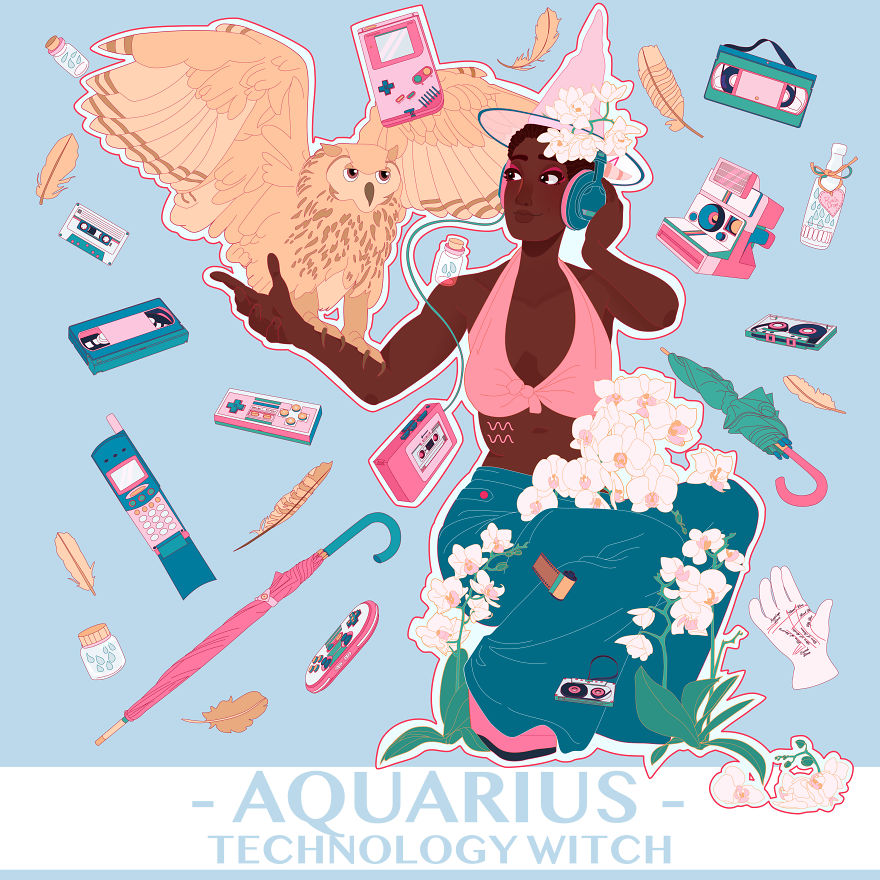 Aquarius The Technology Witch