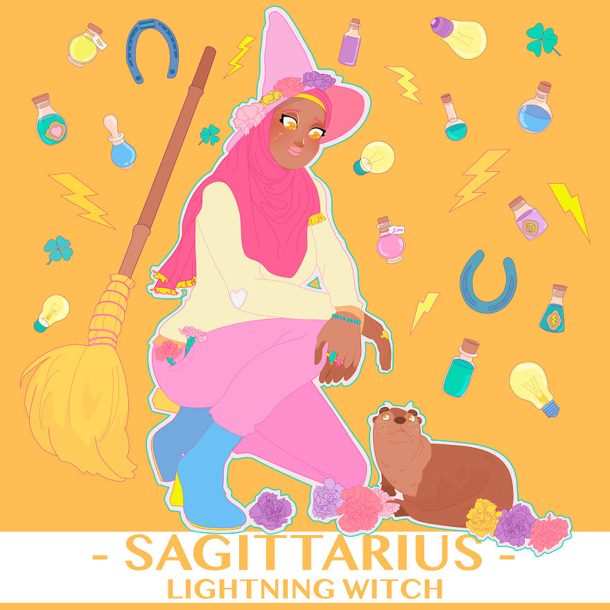Sagittarius The Lightning Witch