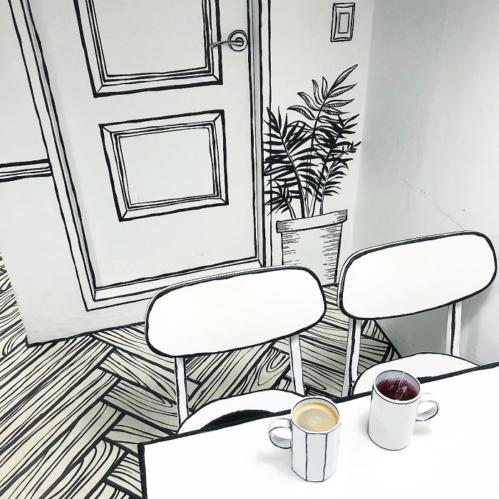 This Unusual Café In Seoul Will Make You Feel Like You Walked Into A Cartoon