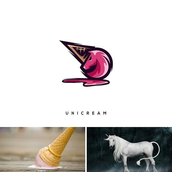 Joining Different Elements, This Designer Can Create Incredibly Creative Logos