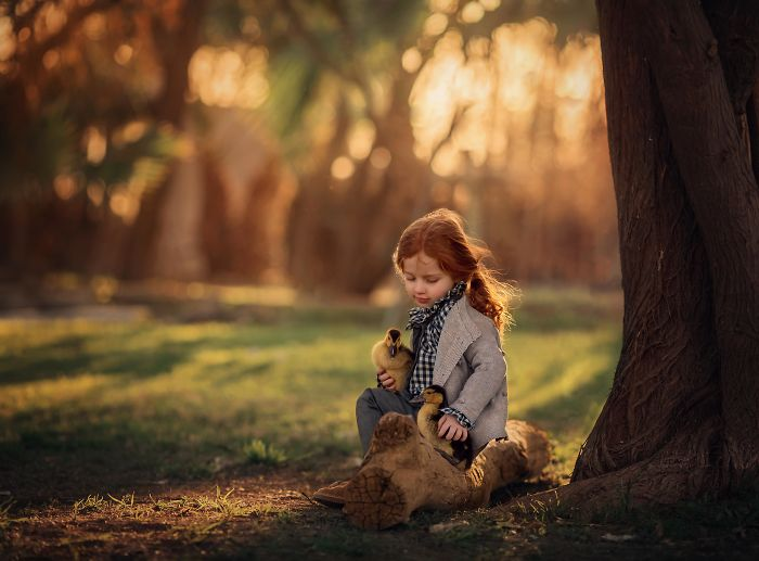 A Glimpse Into Childs Souls Using Magical Light.