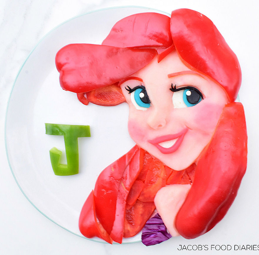 Ariel From The Little Mermaid - Mash Potato, Capsicum (This Was Made Just For Fun)