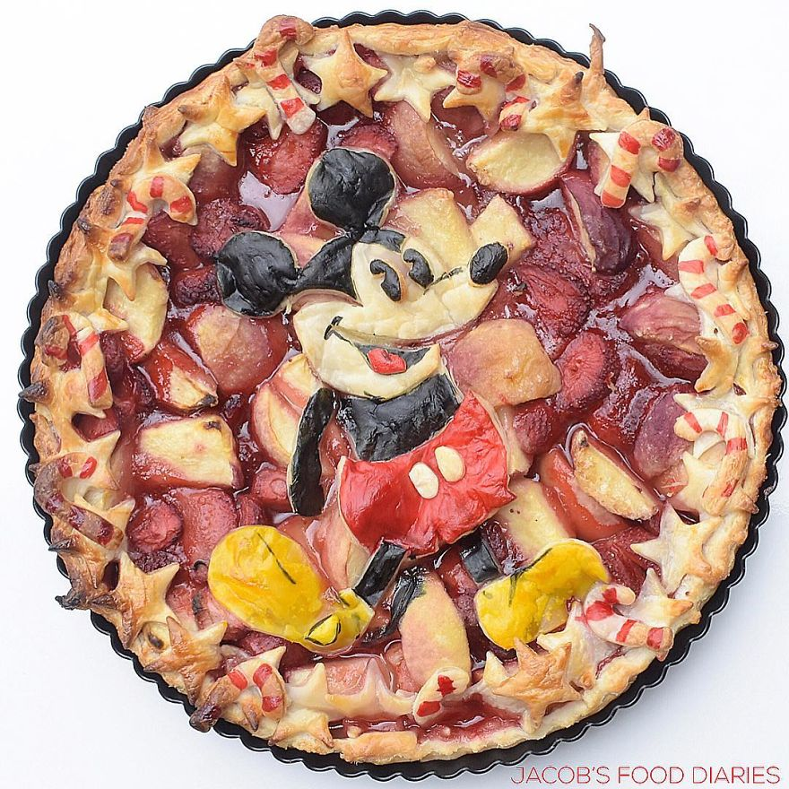 Mickey Mouse - Peach And Strawberry Pie