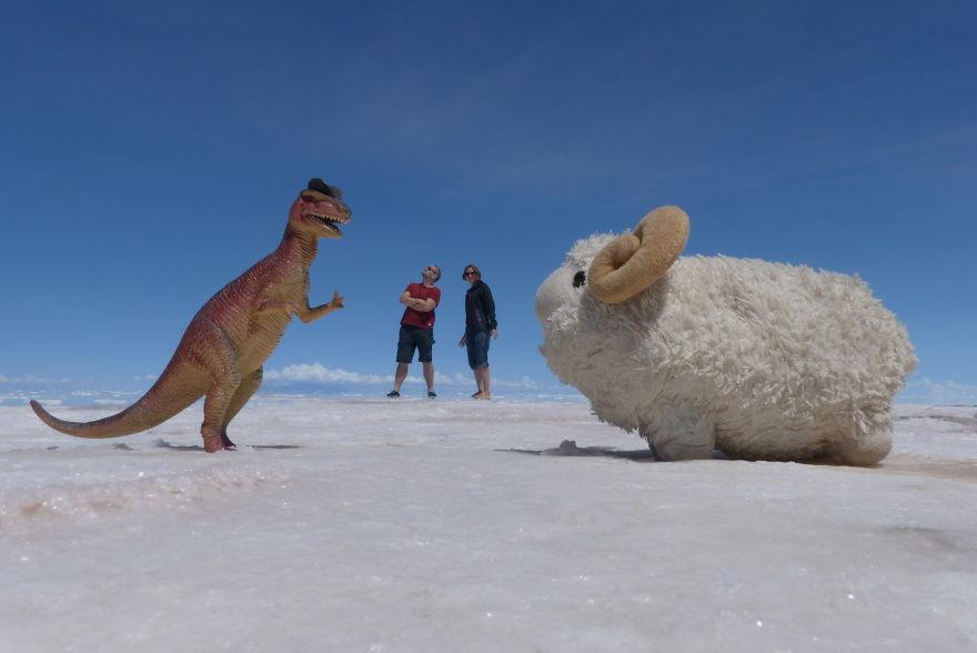 Me, My Friends Giorgio And Federica And A Nice Guy We Met In Salar De Uyuni, Bolivia