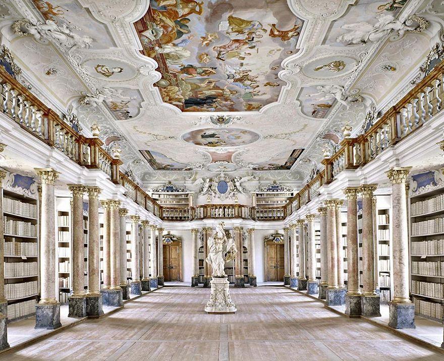 Ottobeuren Abbey Library, Ottobeuren, Germany